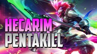HECARIM PENTAKILL!! | SEASON 5 | LEAGUE OF LEGENDS ᴴᴰ