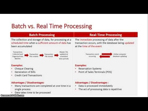 Batch vs Real time Processing