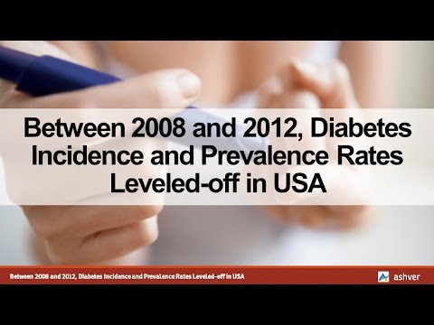 Between 2008 and 2012, Diabetes Incidence and Prevalence Rates Leveled off in USA