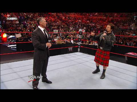 Raw Guest Host Rowdy Roddy Piper challenges Mr.