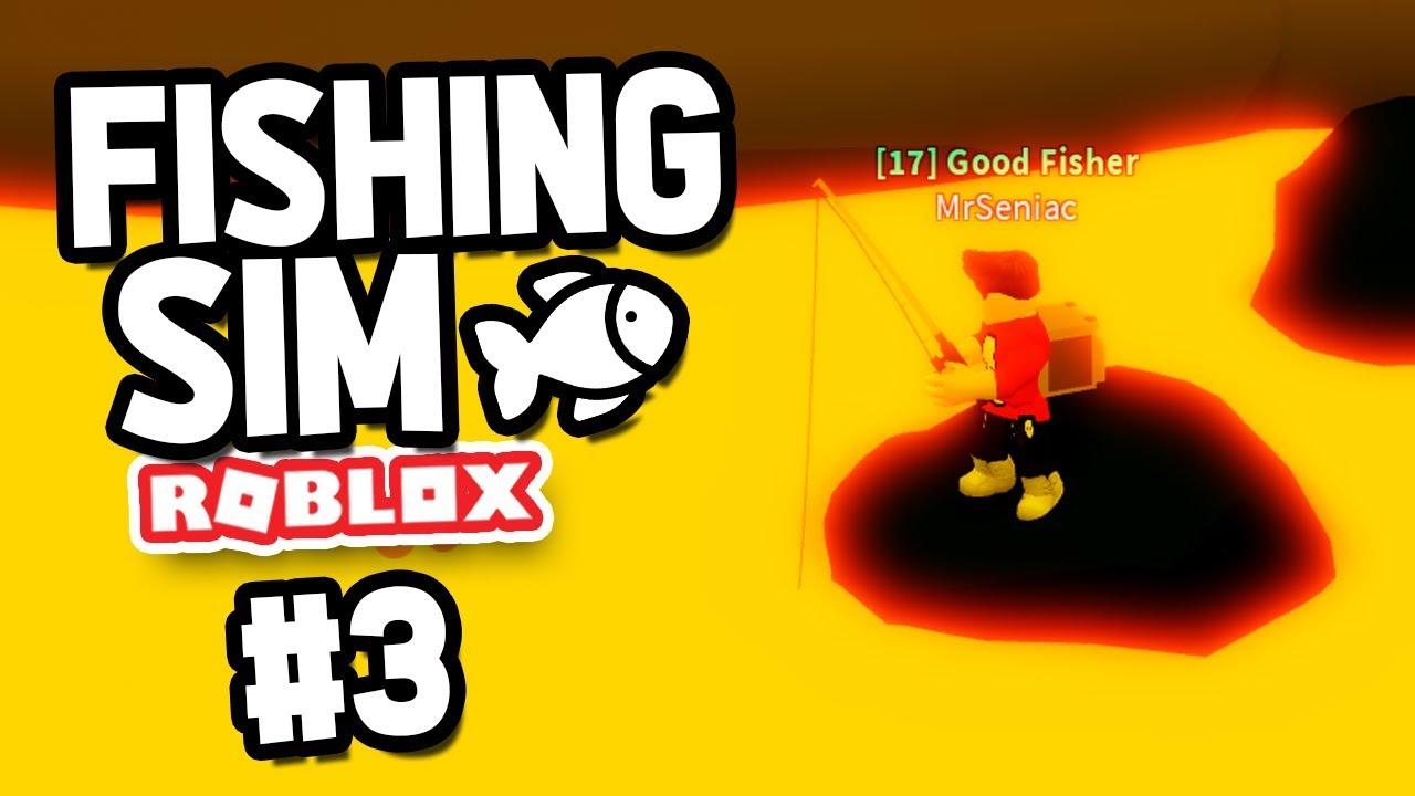 Getting The Lava Rod Roblox Fishing Simulator 3 Youtube