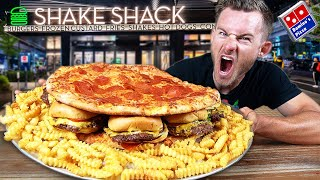 The Shake Shack PIZZA BURGER Challenge!