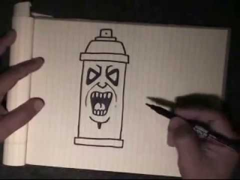 How To Draw Graffiti Character Spraycan Character With My Voice Instructions