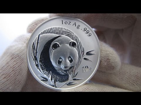 [HD] 2003 Chinese Panda - 1 oz Silver Coin - Frosted Bamboo