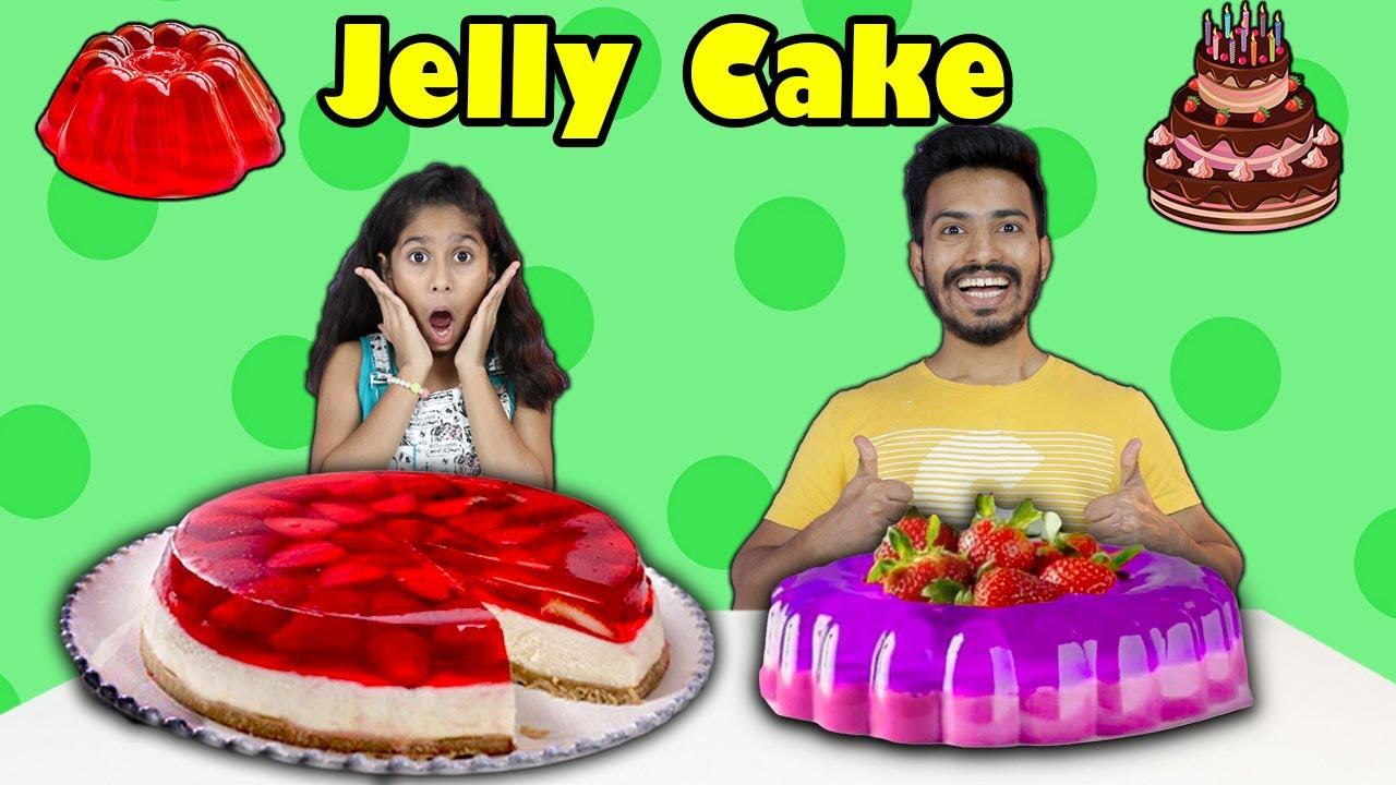 Pari Making Jelly Cake In 2 minutes At Home | जेली केक बनाइये घर पेही