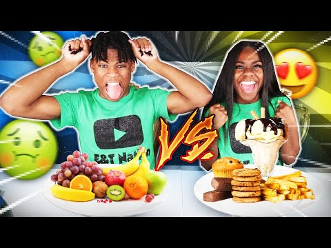 HEALTHY VS JUNK FOOD CHALLENGE!!