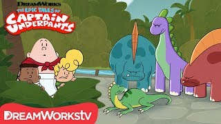 Dinosaur Pranks | DREAMWORKS THE EPIC TALES OF CAPTAIN UNDERPANTS