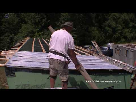 OGH - DIY Build Pt 23: Installing 16' Corrugated Metal Roofing with Patina