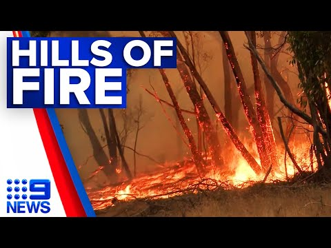 Cherry Gardens bushfire downgraded to 'watch and act' | 9 News Australia thumbnail