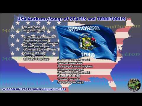 Wisconsin State Song ON, WISCONSIN with vocal and lyrics