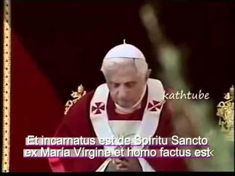 Credo en Latin con Benedicto 16.mp4