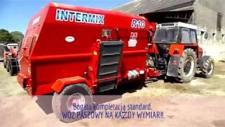 Przygotowywanie paszy w gospodarstwie na Wielkopolsce - poziomy wóz paszowy INTERMIX R10