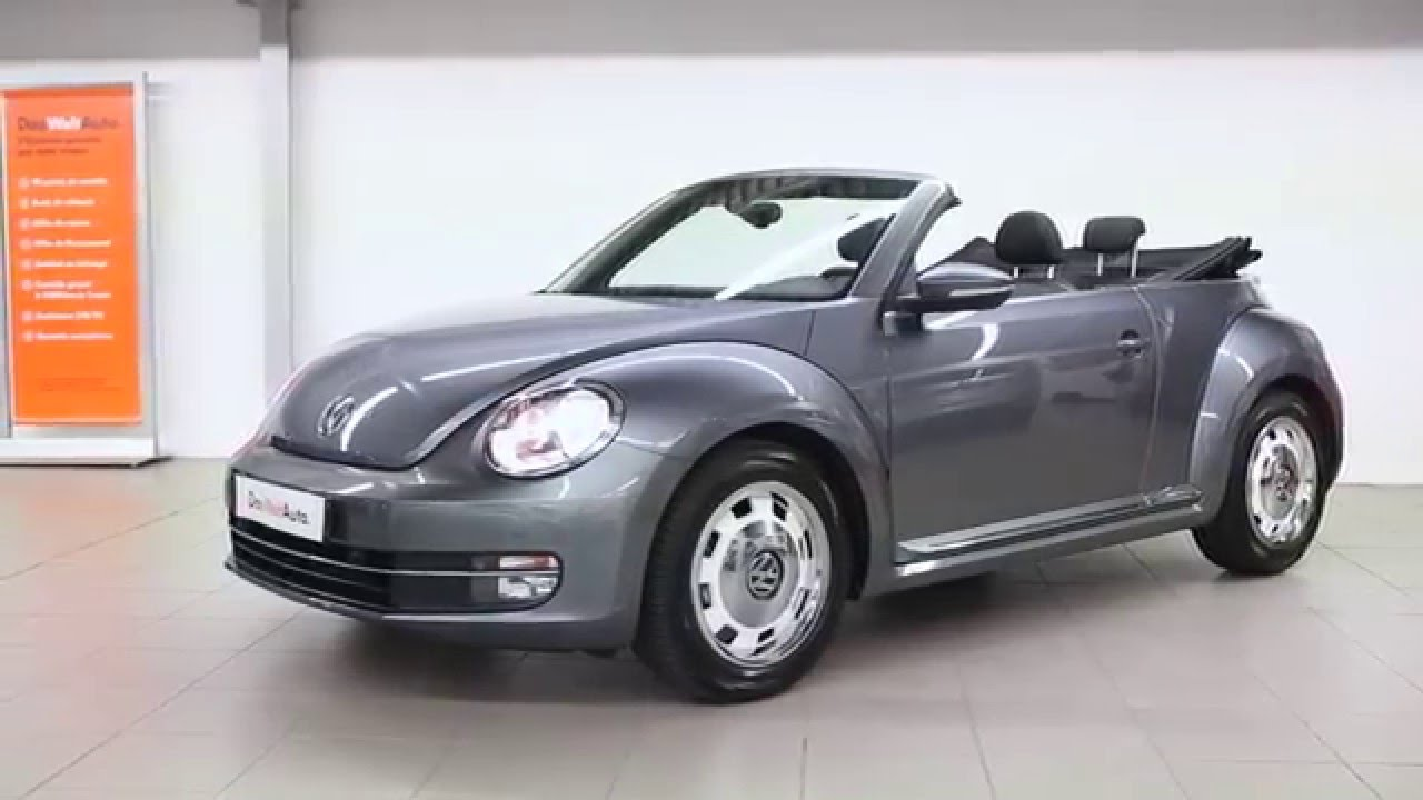 volkswagen coccinelle cabriolet occasion 1 2 tsi 105 vintage gris platine 2672 youtube. Black Bedroom Furniture Sets. Home Design Ideas