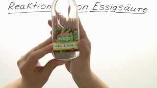 Chemie: Reaktionen der Essigsäure | Chemie | Organische Chemie