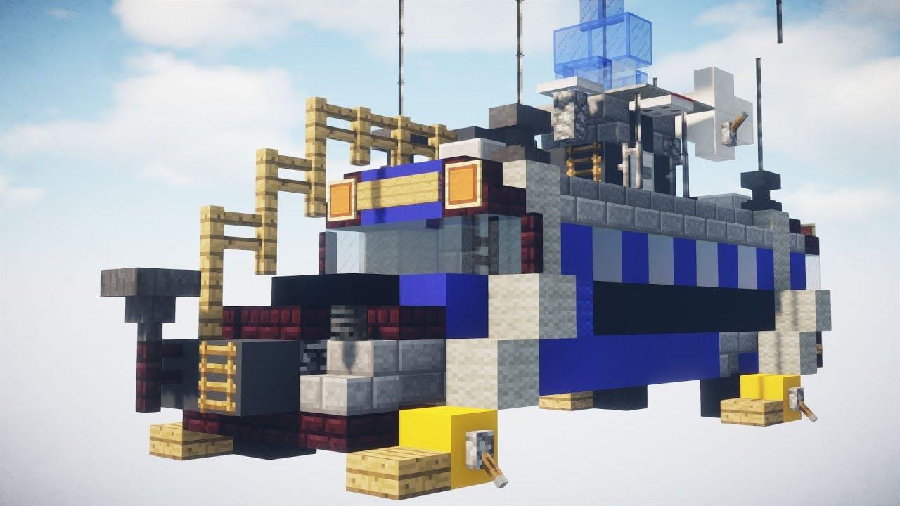 Minecraft Fortnite Battle Royale Battle Bus Tutorial Youtube