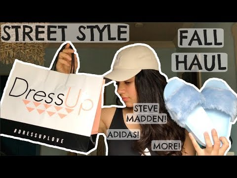 TRY-ON STREET STYLE FALL HAUL!!! Adidas, Steve Madden, Gap, Dress Up, And More!