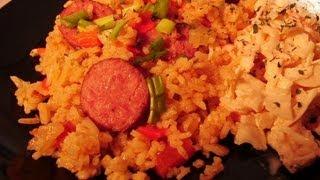 Polish Sausage ( Kubasa )  With Dirty Rice.