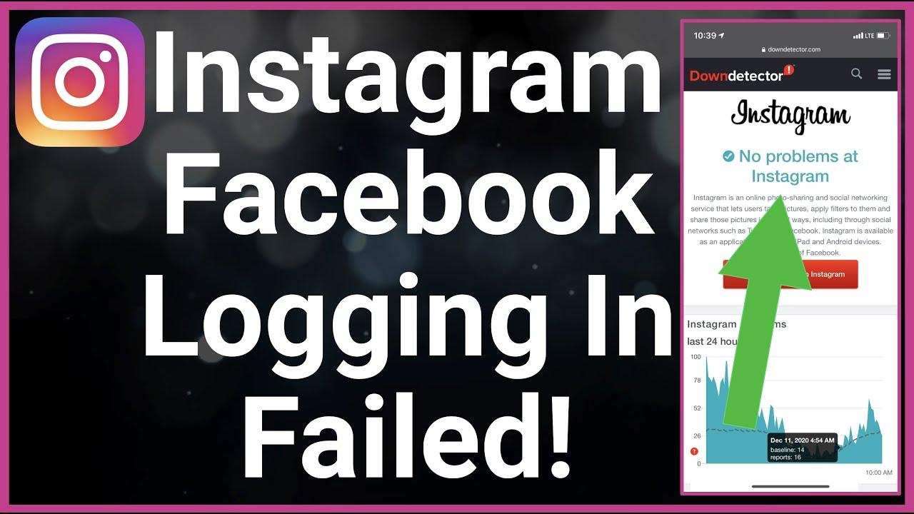 HELP Instagram Error Facebook Login Failed   YouTube