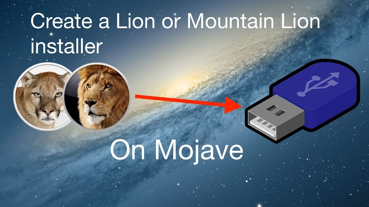How to create a Mac OS X Lion or Mountain Lion installer from Mojave, and  recent macOS versions