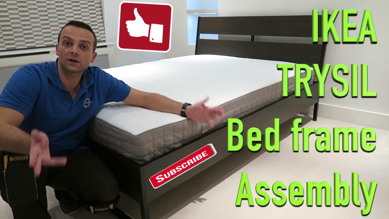 Ikea Trysil bed frame assembly - YouTube
