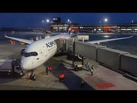 Airbus A350-900 а/к Аэрофлот | Первый регулярный рейс