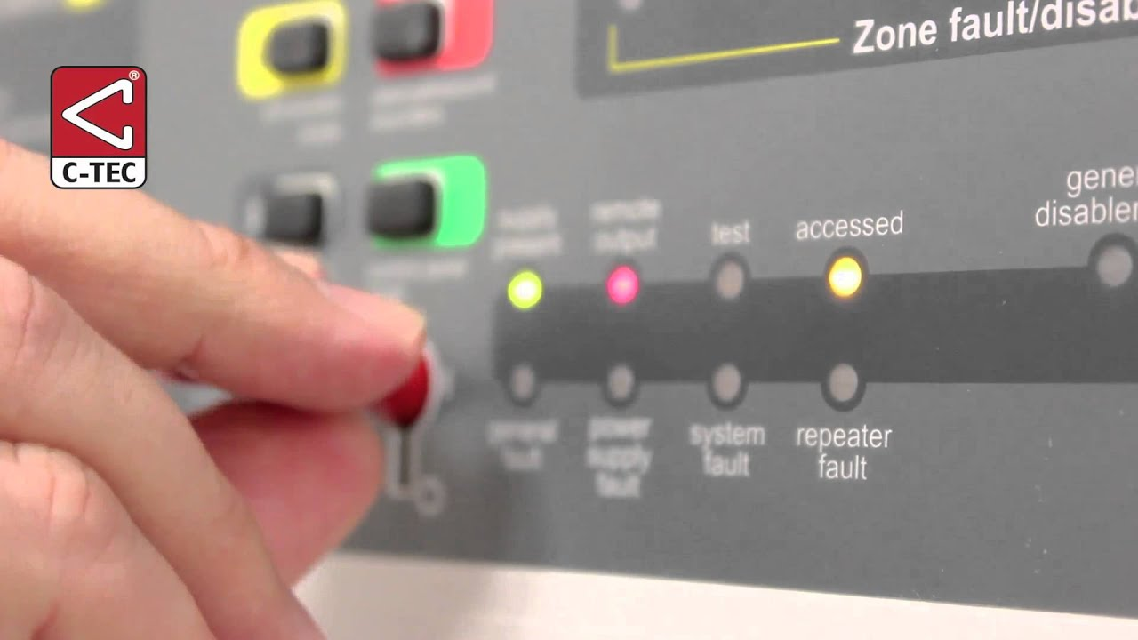 How to silence and reset a CFP fire alarm panel - YouTube