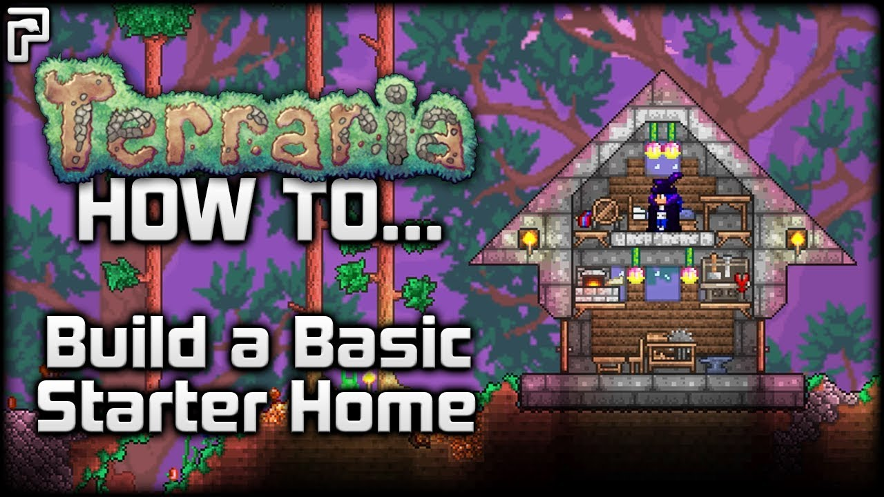 terraria 1.3.1 | how to make a basic starter house! - youtube