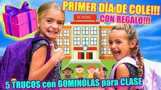 Primer día del cole de Las Ratitas + 5 trucos para llevar gominolas en clase!! ItarteVlogs