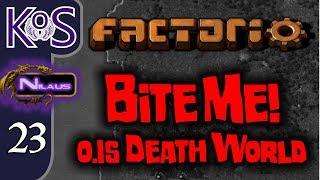 Factorio 0.15 Bite Me! Ep 23: War Preparations - Death World COOP MP Gameplay, Let