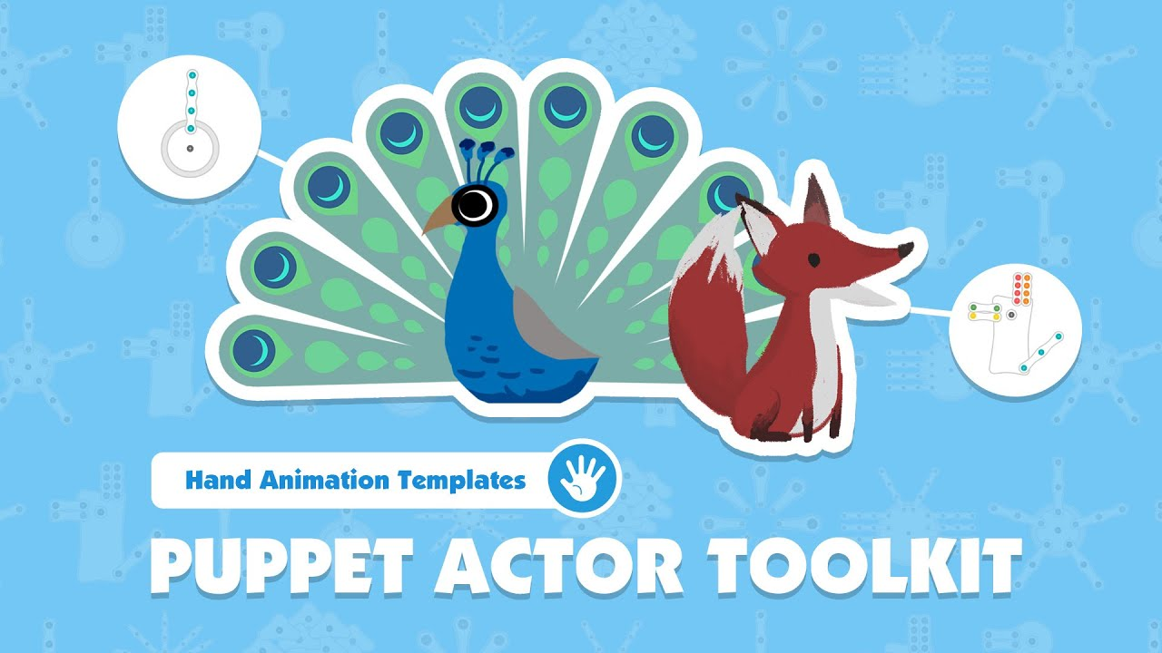 motion capture mocap animation - hand puppet toolkit demo video