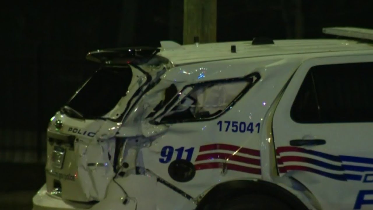 Detroit police car involved in hit-and-run
