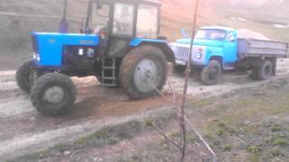 Gaz 53 + traktor 4x4 vs MOLUZA
