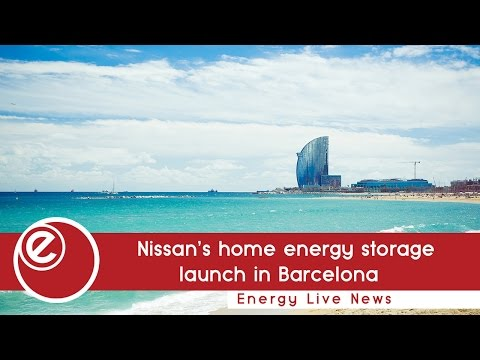 Nissan's home energy storage launch in Barcelona