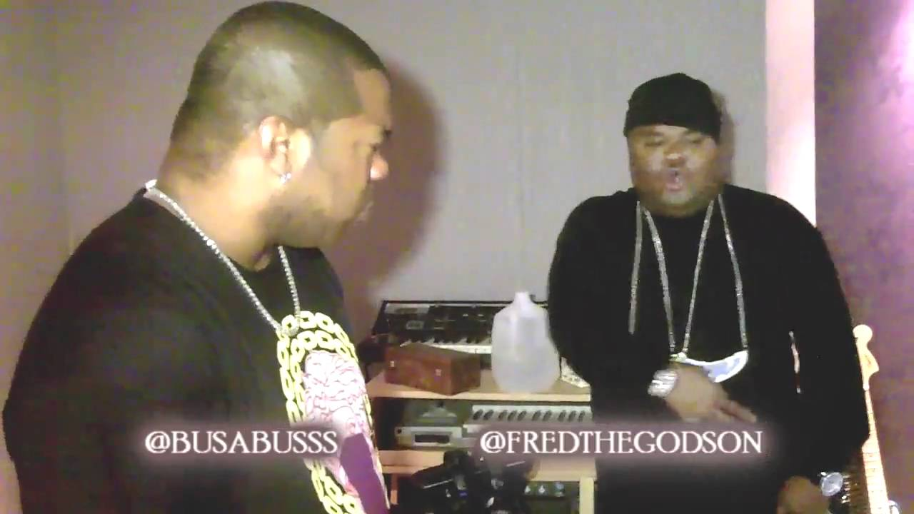 FRED THE GODSON IN THE STUDIO WITH BUSTA RHYMES (1ST TRACK PRODUCED BY GWIZZ OF PMPWORLDWIDE)