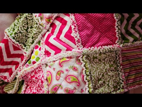 How to make a rag quilt (Sewing tutorial for beginners)