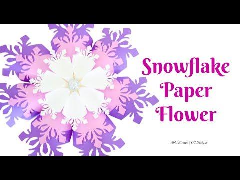 Giant Paper Snowflake Flower DIY Tutorial