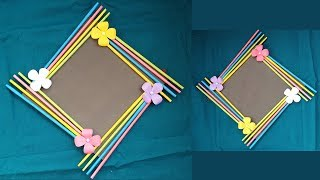 DIY: Easy Photo Frame Tutorial! !!! (Birthday Gift Idea/ Room Decoration)Made With Color Paper!!!