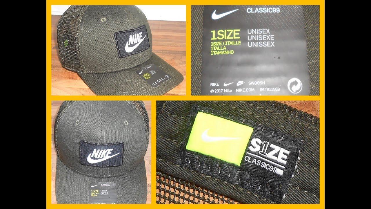 cbc041ca Nike Sportswear Classic99 Trucker Cap Green Unisex Women Men BNWOT
