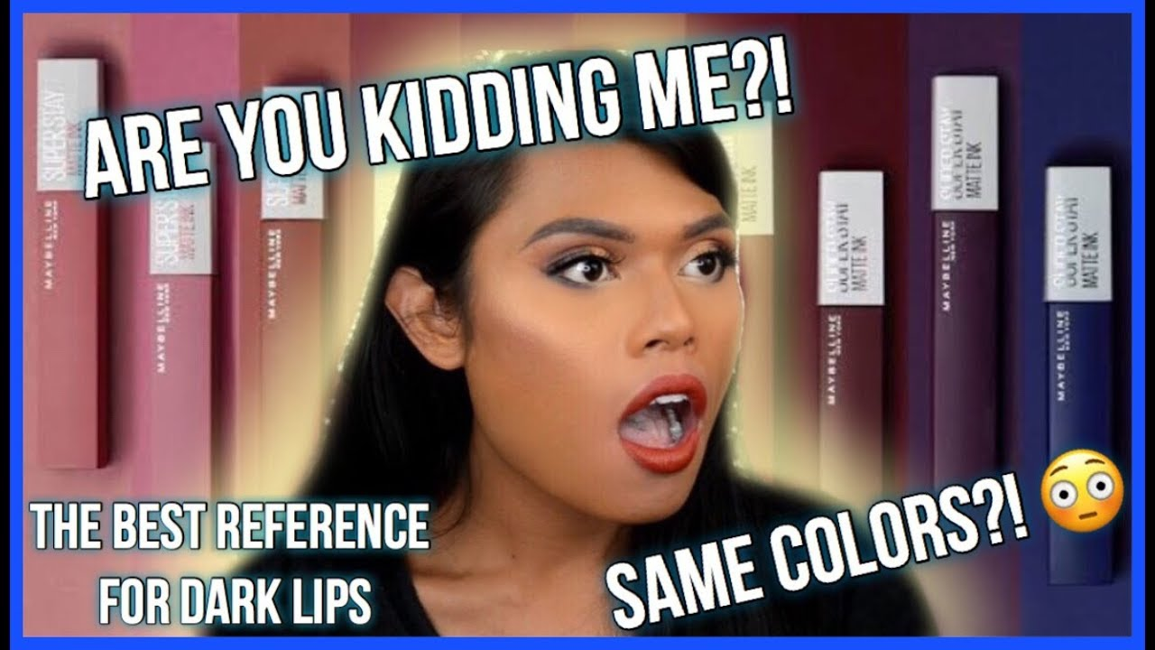 Maybelline Superstay Matte Ink City Edition Swatches On Dark Lips