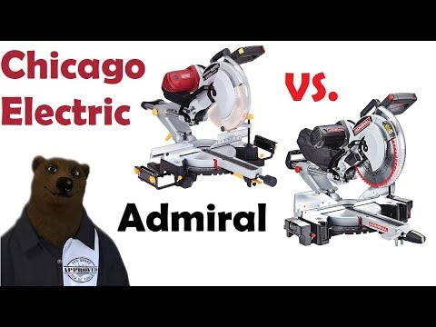 """Chicago Electric vs Admiral 12"""" Sliding Miter Saw (Harbor Freight Buyer's Guide) from YouTube · Duration:  9 minutes 48 seconds"""