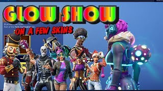 Fortnite GLOW SHOW Back Bling on a few skins