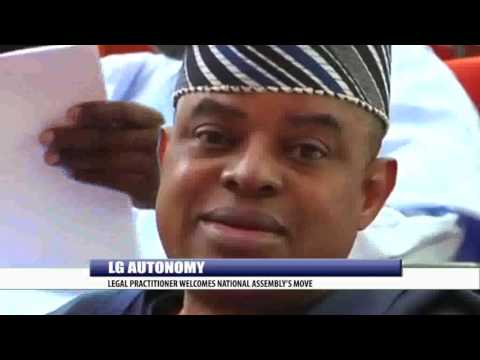 LG AUTONOMY: LEGAL PRACTITIONER WELCOMES NATIONAL ASSEMBLY'S MOVE