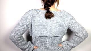 Cómo tejer un jersey / suéter / pullover con un telar circular ...