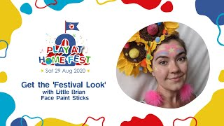 Get the festival look with Little Brian Face Paint Sticks for Play At Home Fest 2