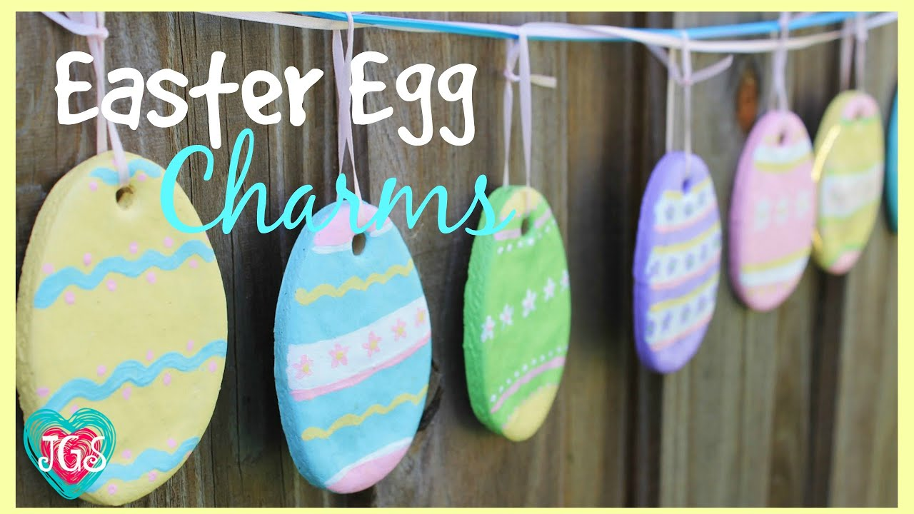 How to make Easter Egg Charms | DIY Easy Salt Dough Easter Crafts ...
