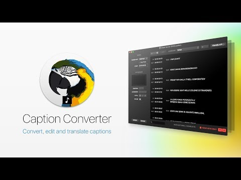 Caption Converter for SRT, iTT, VTT, SUB, Encore Text Script & Premiere Pro Markers Files