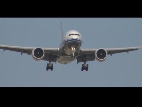 Private VIP Boeing 777-200 Landing at Barcelona, Spain