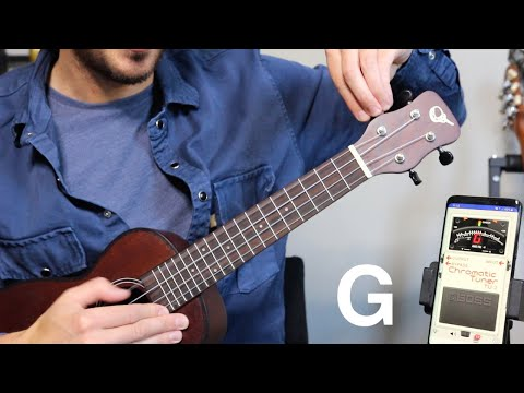 How to tune a UKULELE for total beginners