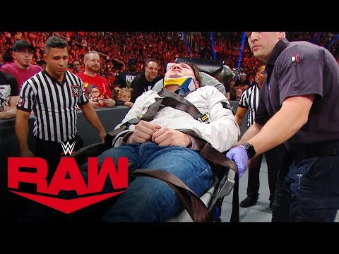 Mysterio's Son Stretchered Out After Brock Attack: Raw Exclusive, Sept. 30, 2019