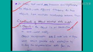 Object Oriented Database Model - Lecture33/ Dbms